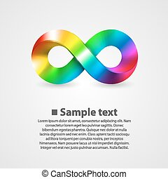 Vector symbol of infinity rainbow. illustration art...