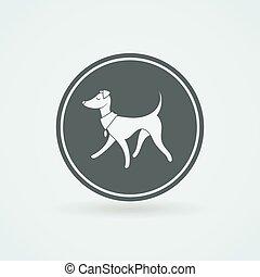 Vector Symbol of Pretty Walking Italian Greyhound