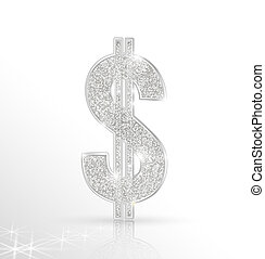 dollar - Vector symbol of silver dollar