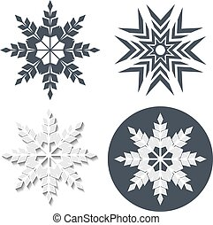 Vector symbol of snowflake. Winter sale label, sticker - Christmas snow icon