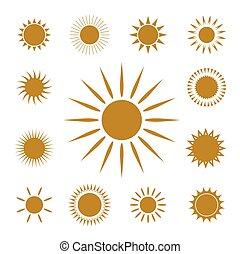 Vector symbol of Sun.