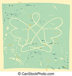 Vector symbol of yoga, meditation, spirituality. Angel.