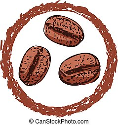 vector symbol or icon of coffee beans