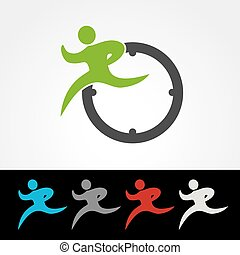 Vector symbol rate of delivery package or speed icon, ...