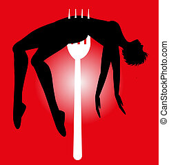 vector symbolic illustration on violence against women