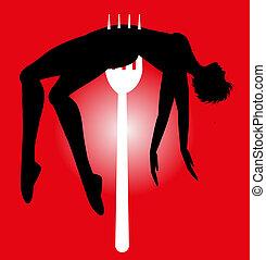 vector symbolic illustration on violence against women