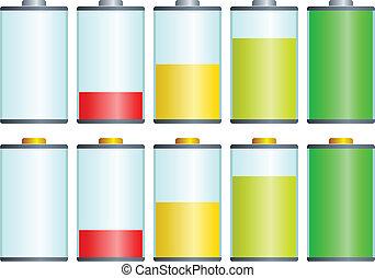 vector symbols of battery level