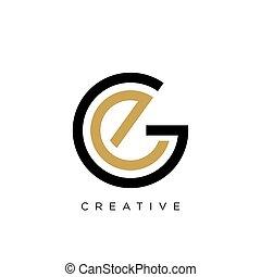 vector, symbool, ge, logo, ontwerp, pictogram