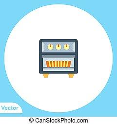 vector, symbool, meldingsbord, pictogram, plat, kachels, gas