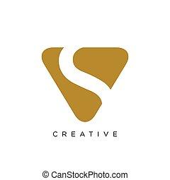 vector, symbool, vs, logo, ontwerp, pictogram
