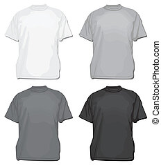 Set of vector tees or t-shirt templates