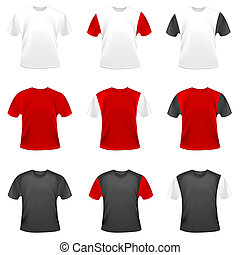 Vector t-shirts - Collection of vector t-shirts in different...