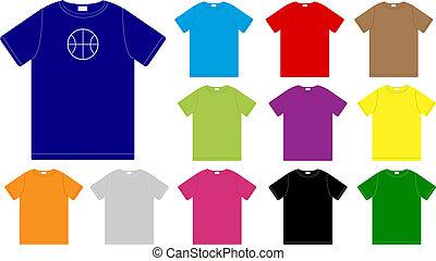 Set of Color T-Shirts Templates