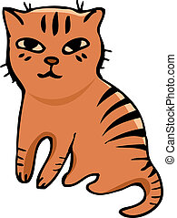 Vector. Tabby cat