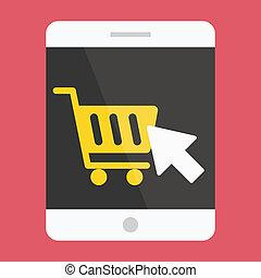 Vector Tablet Buy Online Icon