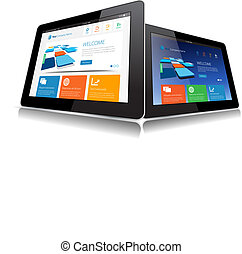 Vector Tablet - This image represents a Internet Tablet...