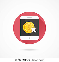 Vector Tablet Pay per Click Icon