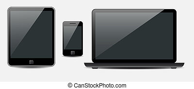vector, tableta, móvil, computador portatil, teléfono,...