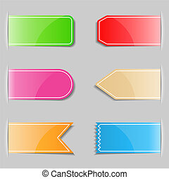 Set of different tabs, vector eps10 illustration
