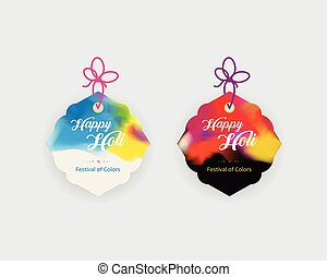 Vector tags design, cardboard sale labels. Colorful...