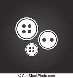 Vector tailor sing - Vector flat white tailor button icon on...
