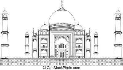 Taj Mahal - vector Taj Mahal wonder of the world