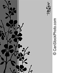Vector Tall Blossom Frame - Vector decorative frame. Easy to...