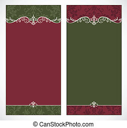 Vector Tall Christmas Backgrounds - Set of vector Christmas...