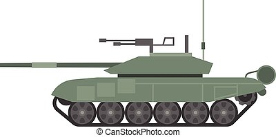 Vector tank t90, flat design
