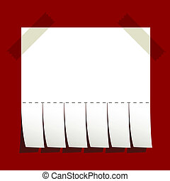 vector taped blank advertisement paper