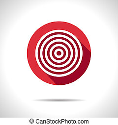 Vector target icon. Eps10