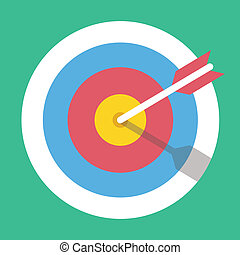 Vector Target Marketing Icon