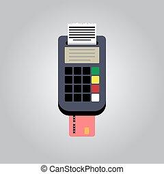 vector, tarjeta bancaria, lector