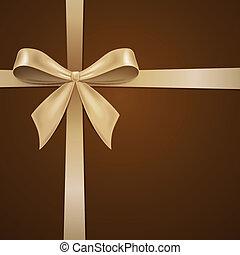 vector, tarjeta de felicitación, con, arco