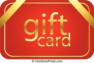 vector, tarjeta de felicitación, rojo