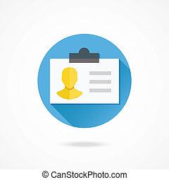 vector, tarjeta de identificación, icono