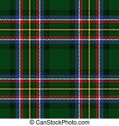 vector tartan background for st. patrick's day