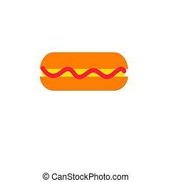 Vector tasty hot dog icon
