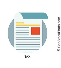 Vector tax flat icon