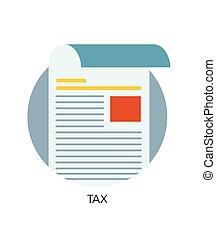 Vector tax flat icon
