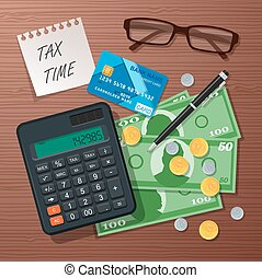 Vector tax time concept design element, flat style.