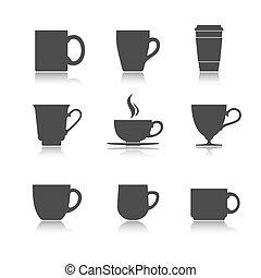 Vector tea cup set
