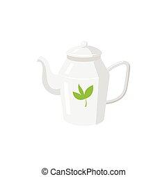 Vector teapot flat isolated illustration isolated