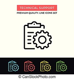 Vector technical support icon. Maintenance. Premium quality graphic design. Modern signs, outline symbols collection, simple thin line icons set