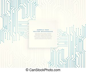 vector technology blue circuit diagram background