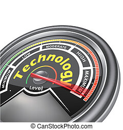 vector technology conceptual meter indicator