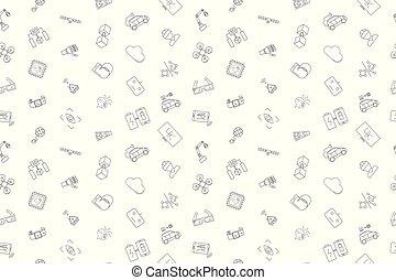 Vector Technology pattern. Technology seamless background