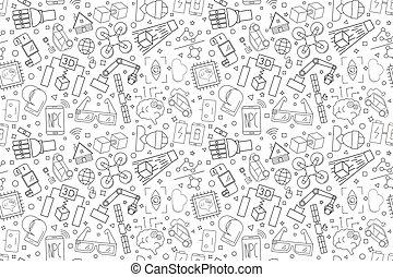 Vector Technology pattern. Technology seamless background.