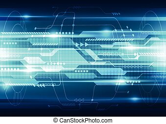 vector, tecnología, resumen, sistema, ilustración, plano de...