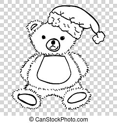 Teddy Bear with Santa Claus Hat